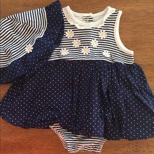 Little Me Daisy and Polka Dot Dress 👗